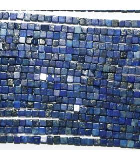 Lapis Lazuli Cubo Liso 2mm.-Hilo 39cm- Ref.10739