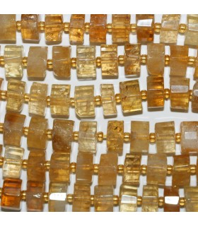 Citrine Faceted Slice 11x5mm.-Strand 40mm.-Item.10744