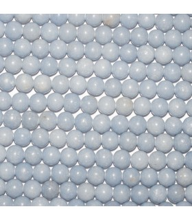 Angelite Round Beads 8mm. Strand 40.- Item: 10757