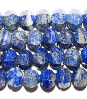 Lapis Lazuli Rodaja (Calabaza) Facetada 10x7mm. Hilo 39 cm.- Ref: 10759