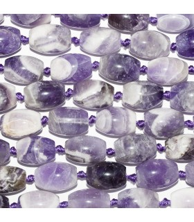 Amethyst Smooth Barrel Beads 20x14mm. Strand 42 cm.- Item: 10764