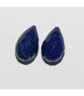 Lapis Lázuli Perilla Facetada ( 1 Pareja ) 13x8mm.-Ref.7865