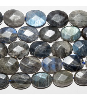 Labradorite Faceted Oval 16x12mm. Strand 39 cm.- Item: 10782