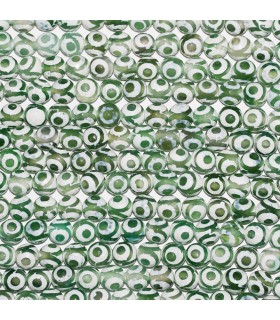 Agata Verde-Blanca Bola Facetada 10mm. Hilo 37 cm.- Ref: 10847