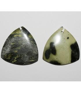 Colgante Jaspe Verde Triangulo 44mm aprox. 1 pieza.- Ref: 10878