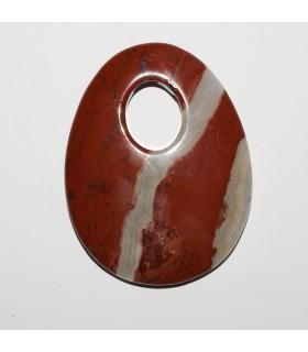 Red Jasper Oval Pendant 70x55mm. 1 pcs.- Item: 10879