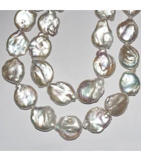 Irregular Coin Pearl 20-22mm. Strand 40 cm.- Item: 10911