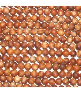 Pine Mala Round Beads 8mm. Strand 85 cm.- Item: 10919