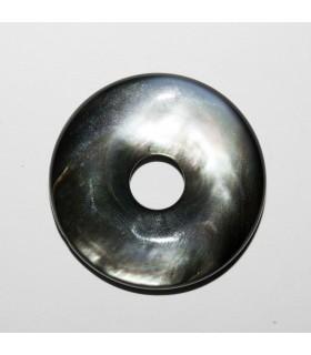 Grey MOP Donnut 30mm.- Item: 10922