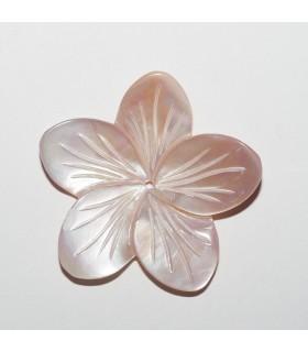 Rose MOP Flower Pendant 29mm.- Item: 10924