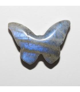 Labradorite Butterfly Pendant 18x12mm aprox.- Item: 10934