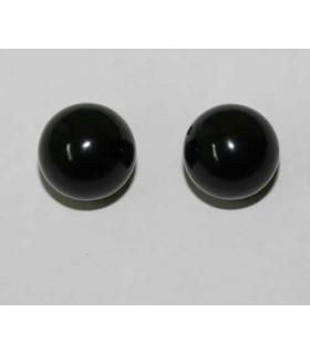 Pendiente Azabache (medio taladro) Bola 10mm. 20 pares Ref.2745