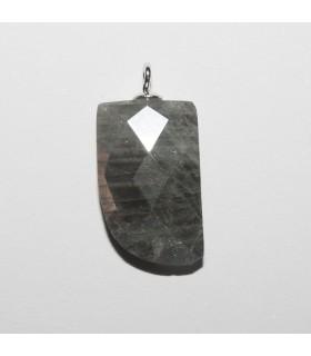 Labradorite Faceted Stick Pendant 16x10mm aprox.- Item: 10935