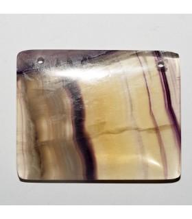 Fluorite Rectangular Pendant 50x40mm aprox.- Item: 10908