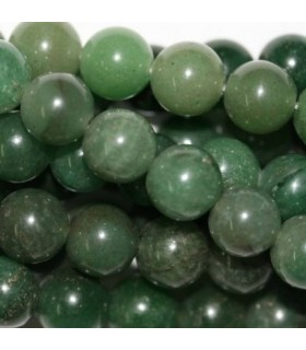 Green Aventurine Round Beads 10mm. Strand 40 cm.- Item: 2956