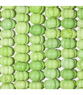 Green Howlite Pumpkin 16x11mm. Strand 40 cm.- Item: 2456