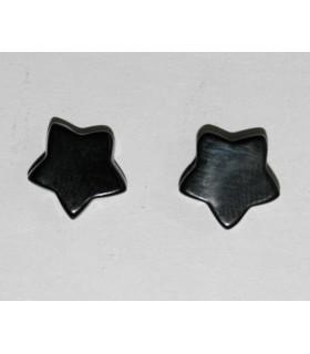 Pendiente Azabache (Medio Taladro) Estrella 20 Pares Ref.4320