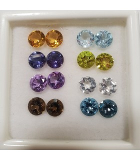 Mix Gemstone Lot Rounds 5mm.Item .064PE