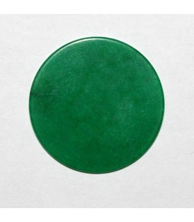 Green Jade Round Flat Pendant 25mm ( 4 Pcs ).-Item: 1200CB