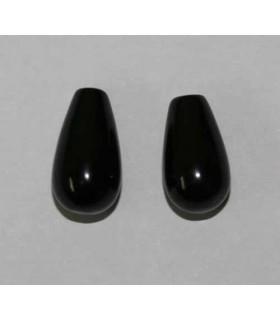 Pendiente Azabache (medio taladro) Gota 8x15mm. 10 Pares Ref.1410