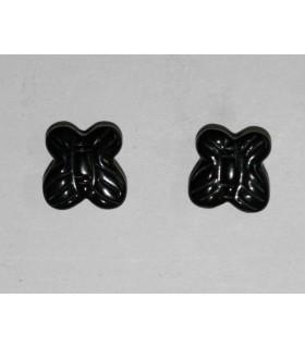 Pendiente Azabache (Medio Taladro) Mariposa 10 Pares Ref.4328