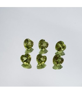 6 Pcs Lot Peridot Heart Shape 5mm Item.154LO
