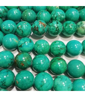 Turquoise Round Beads 10mm. Drilled 2.50mm.-Strand 40cm- Item.2936