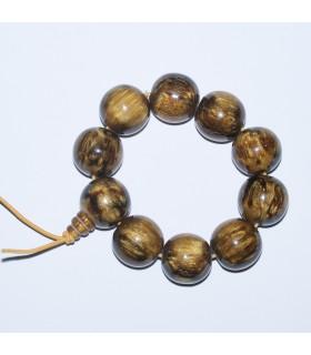 Wood Round Beads Bracelet 25mm.- Item: 11435