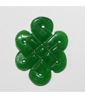 Green Jade Carved Pendant 44x34mm.-Item.1113JV