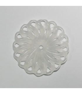 White Jade Carved Pendant 44mm.-Item.1131JB