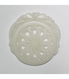 White Jade Carved Pendant 52mm.-Item.1138JB