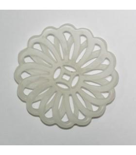 White Jade Carved Pendant 53mm.-Item.1139JB