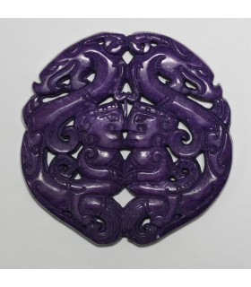 Purple Jade Carved Pendant 69mm.-Item.1154MO