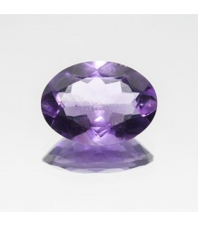 Amethyst Faceted Oval 15x11mm (6.04 ct).- Item: 337PE