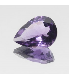 Amethyst Faceted Drop 16x12mm (7.44 ct).- Item: 339PE