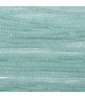 Aquamarine Faceted Rondelle Beads 2x1.5mm.-Strand 33cm.-Item.10949