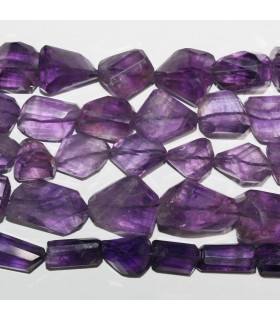 Amethyst Faceted Nugget Beads 12-18mm.Approx.-Strand 36mm. Item.10950