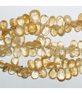 Citrine Graduated Faceted Drop Beads 9x7-16x10mm.Approx.-Strand 20cm.-Item.10958