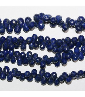 Lapis Lazuli Faceted Drop Beads 7x5mm.-Strand 20cm.-Item.10980