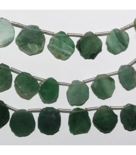 Aventurine Irregular Smooth Oval Beads 10x8mm. Approx.-Strand 21cm.-Item.10986