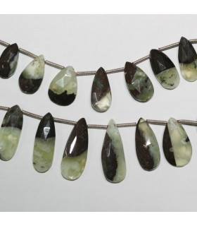 Chrysoprase Faceted Drop Beads 14x7-20x10mm.Approx.-Strand 20cm.-Item.10989