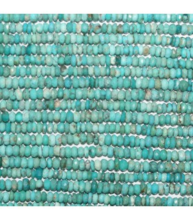Natural Turquoise Faceted Rondelle 4x2mm.-Strand 33cm.-Item.10997