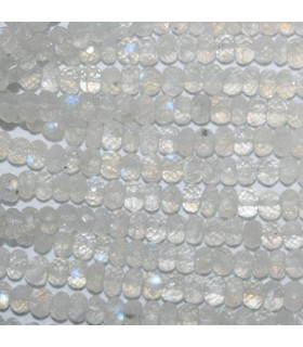 Moonstone Graduated Faceted Rondelle Beads 5x3-8x5mm.-Strand 40cm.-Item.11000
