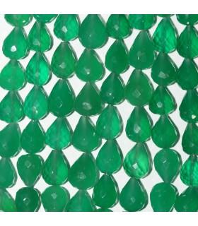Onix Verde Gota Facetada 11x8mm.Aprox.-Hilo 21cm.-Ref.11002