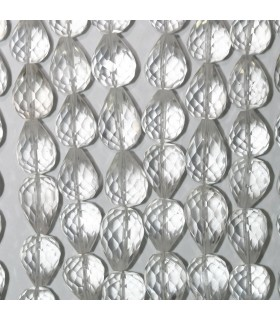 Rock Crystal Quartz Faceted Drop Beads 11x8mm.Approx.-Strand 21cm.-Item.11004
