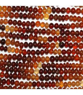 Hessonite Garnet Smooth Rondelle Beads 6x4mm.-Strand 34cm.-Item.11011