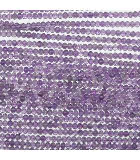 Amethyst Faceted Rondelle Beads 2x1.5mm.-Strand 33cm.-Item.11016