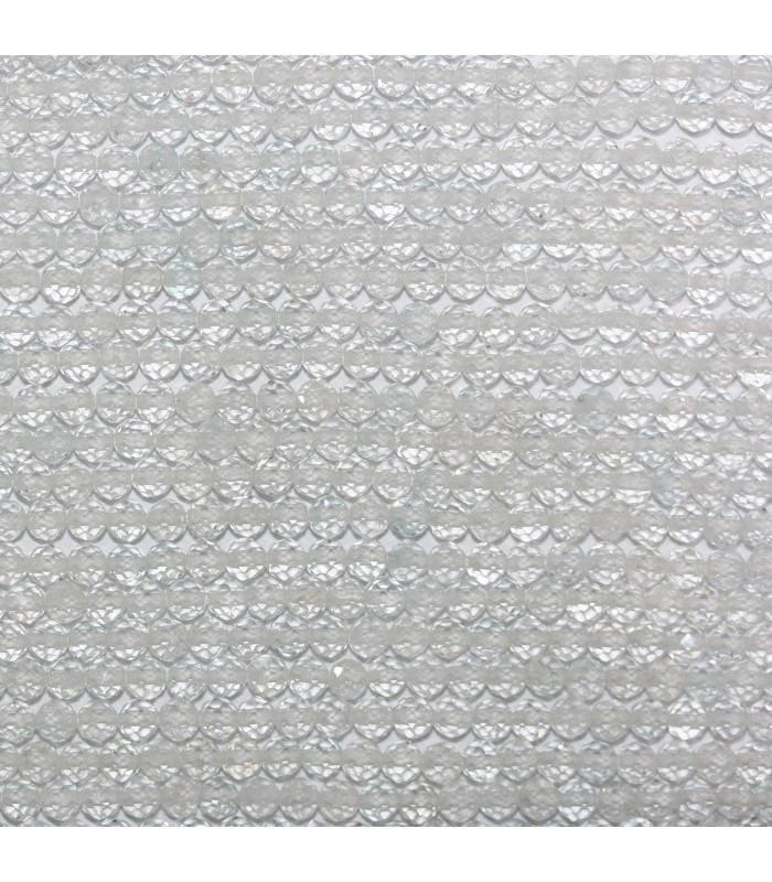 White Topaz Faceted Round Beads 3.5mm.-Strand 33cm.-Item.11017