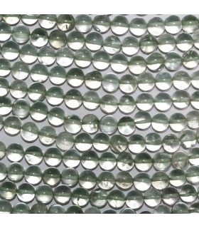 Green Amethyst Smooth Round Beads 6mm-Strand 34cm.-Item.11018